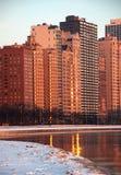 Chicago por mañana del invierno Imagenes de archivo