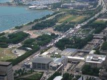 chicago powietrzny smak obraz royalty free