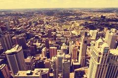 chicago powietrzny widok fotografia royalty free