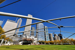 Chicago Pritzker Pavilion in Millennium park Stock Photo