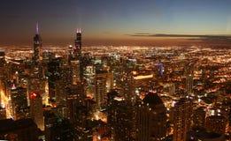 Chicago przy noc Obraz Royalty Free