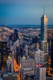 Chicago przy nocą Obraz Royalty Free