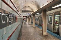 Chicago public transportation Stock Photo