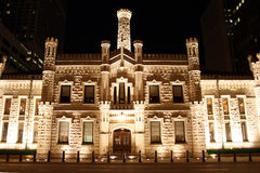 Chicago pumping station. Night time view of Chicago pumping station Stock Images