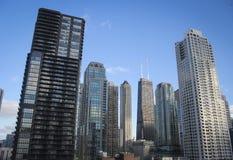 Chicago que espera la noche Foto de archivo