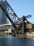 Chicago railroad bridge Royalty Free Stock Photography