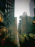 Chicago Rainy Evening Royalty Free Stock Photo