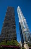 Chicago - rascacielos blancos y negros Imágenes de archivo libres de regalías