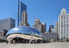 Chicago reflective sculpture Stock Images