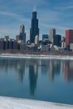 chicago reflexion Zdjęcia Royalty Free
