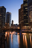 Chicago from the river stock photography