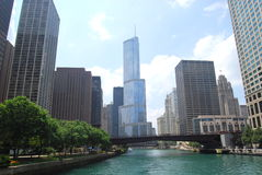 Chicago river Stock Photos