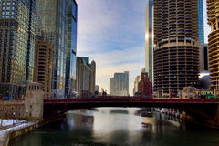 Chicago River Royaltyfri Fotografi
