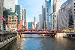 Chicago River Arkivfoton