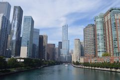 Chicago River Royaltyfri Foto