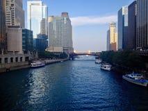 Chicago River Fotografia de Stock Royalty Free