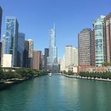 Chicago River Immagini Stock