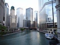 Chicago River Fotografie Stock Libere da Diritti