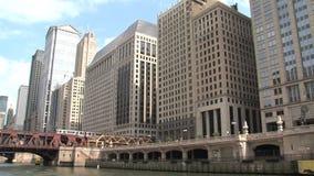 Chicago River Ansicht von einer Fähre stock footage