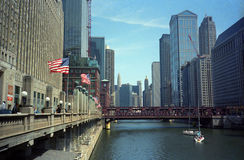 Chicago River and Attractions Royalty Free Stock Photography