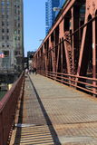Chicago River Bridge Stock Photography