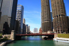 Chicago River Bridge Stock Images