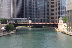 Chicago River Bridge Stock Image