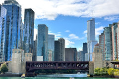 Chicago River and city views Stock Photography