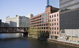 Chicago River curve Royalty Free Stock Images