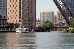 Chicago River Excursions Royalty Free Stock Images