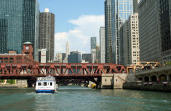 Chicago River Excursions Stock Photos