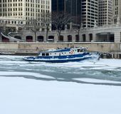 Chicago River Icebreaker Royalty Free Stock Photo
