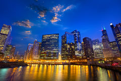 Chicago River skyline Stock Image