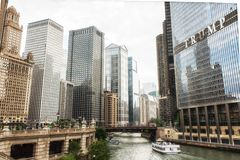 The Chicago River and Trump International Hotel. Chicago River and Trump International Hotel Royalty Free Stock Photography