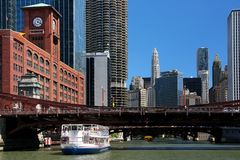 Chicago from the river Stock Photos
