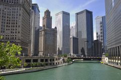 Chicago River View Stock Images