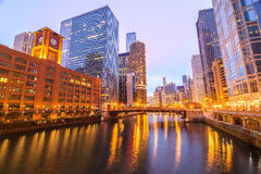 Chicago River View Royalty Free Stock Image