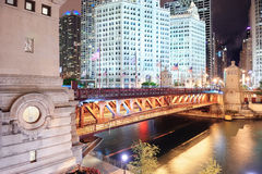 Chicago River Walk Stock Photography