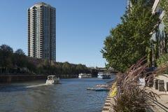 Chicago-Riverbank Stockfoto