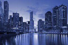 Chicago riverside Stock Photography
