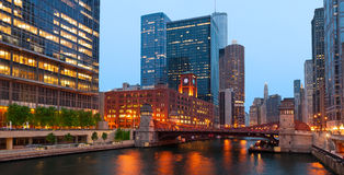 Chicago riverside Royalty Free Stock Photography