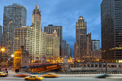 Chicago riverside Stock Photo