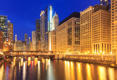 Chicago Riverside. Image of the Chicago riverside downtown distr Stock Photos