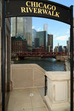 Chicago Riverwalk Royalty Free Stock Photography