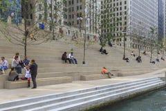 chicago riverwalk Arkivbilder