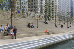 Chicago Riverwalk Stock Images