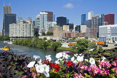 Chicago from Roosevelt Avenue Stock Photography