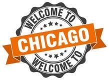 Chicago round ribbon seal Royalty Free Stock Photo