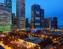 Chicago& x27; s千禧公园从上面 库存图片