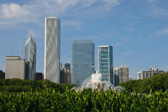 Chicago's Buckingham Fountain in Summer Stock Photography